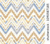 abstract zigzag pattern for... | Shutterstock .eps vector #1090587185