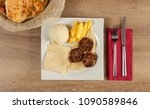 grilled meat balls in... | Shutterstock . vector #1090589846