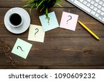 question mark on sticky notes... | Shutterstock . vector #1090609232