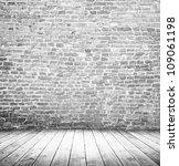 white empty interior of vintage ... | Shutterstock . vector #109061198