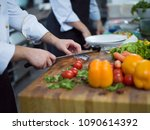 Chef Hands Preparing Marinated Salmon - Fine Art prints
