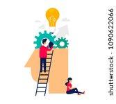 idea  brainstorming. flat... | Shutterstock .eps vector #1090622066