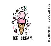 hand drawn illustrations of ice ... | Shutterstock .eps vector #1090625678
