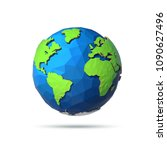 earth day banner. low poly... | Shutterstock .eps vector #1090627496