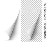 vector white vertical paper... | Shutterstock .eps vector #1090628678