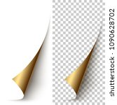 vector golden foil vertical... | Shutterstock .eps vector #1090628702