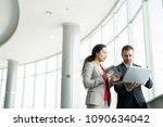waist up portrait of successful ... | Shutterstock . vector #1090634042