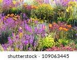 flowers in a garden in geneva ... | Shutterstock . vector #109063445