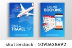 brochure or flaer travel and... | Shutterstock .eps vector #1090638692