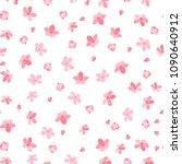 sakura cherry blossoms seamless ... | Shutterstock . vector #1090640912