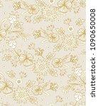 golden  beige pastel seamless... | Shutterstock .eps vector #1090650008