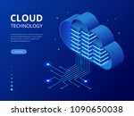 isometric modern cloud... | Shutterstock .eps vector #1090650038