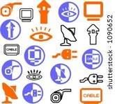 a set of 21 communication icons. | Shutterstock .eps vector #1090652