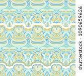 geometric eastern pattern.... | Shutterstock .eps vector #1090659626