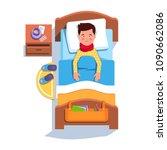 sad suffering sick patient boy...   Shutterstock .eps vector #1090662086
