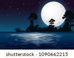 A Full Moon Night At The Lake...