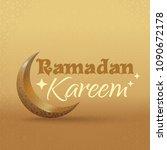 ramadan kareem greeting... | Shutterstock .eps vector #1090672178