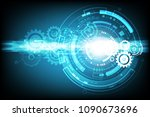 vector technology communication ... | Shutterstock .eps vector #1090673696