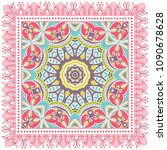 decorative colorful ornament on ... | Shutterstock .eps vector #1090678628