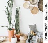modern minimal scandinavian... | Shutterstock . vector #1090678682