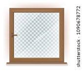 vector photo realistic wooden... | Shutterstock .eps vector #1090678772