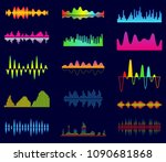 music equalizer  audio analog... | Shutterstock .eps vector #1090681868