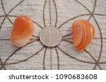 set of 2 tumbled carnelian.... | Shutterstock . vector #1090683608