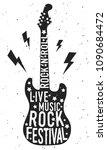rock festival poster. black... | Shutterstock .eps vector #1090684472