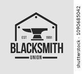 blacksmith smith union shoer... | Shutterstock .eps vector #1090685042