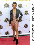 Small photo of Aliyah Moulden attends 3rd Annual Young Entertainer Awards at Globe Theatre, Universal City, CA on April 15th, 2018
