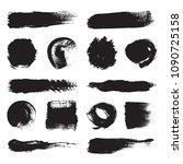 set of black brushes.... | Shutterstock .eps vector #1090725158
