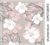 fantastic flower ornament....   Shutterstock .eps vector #1090728092