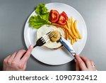 bitcoin getting new hard fork... | Shutterstock . vector #1090732412