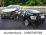 car crash accident damage on... | Shutterstock . vector #1090740788