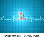 ecg showing life | Shutterstock . vector #109074086