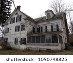 abandoned house in the woods.   ... | Shutterstock . vector #1090748825
