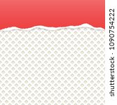 red ripped paper vector with... | Shutterstock .eps vector #1090754222