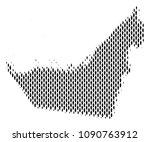 demography arab emirates map... | Shutterstock .eps vector #1090763912