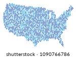 population usa map. demography... | Shutterstock .eps vector #1090766786