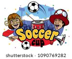 soccer cup event design | Shutterstock .eps vector #1090769282