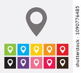 map pointer icon   vector | Shutterstock .eps vector #1090776485