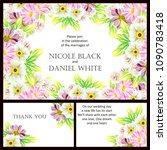 romantic invitation. wedding ... | Shutterstock .eps vector #1090783418