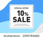 10  off. sale banner template... | Shutterstock .eps vector #1090783682