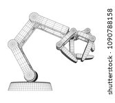 robotic arm manufacture... | Shutterstock .eps vector #1090788158
