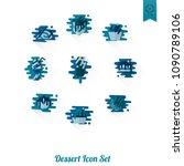 dessert icons in simple ... | Shutterstock .eps vector #1090789106