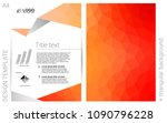 light orange vector  brochure...
