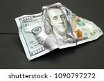crumpled dollars money. new age ... | Shutterstock . vector #1090797272