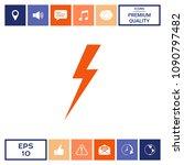 thunderstorm lightning icon | Shutterstock .eps vector #1090797482