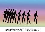 illustration of people walking | Shutterstock . vector #10908022