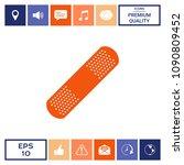 medical  plaster  adhesive... | Shutterstock .eps vector #1090809452